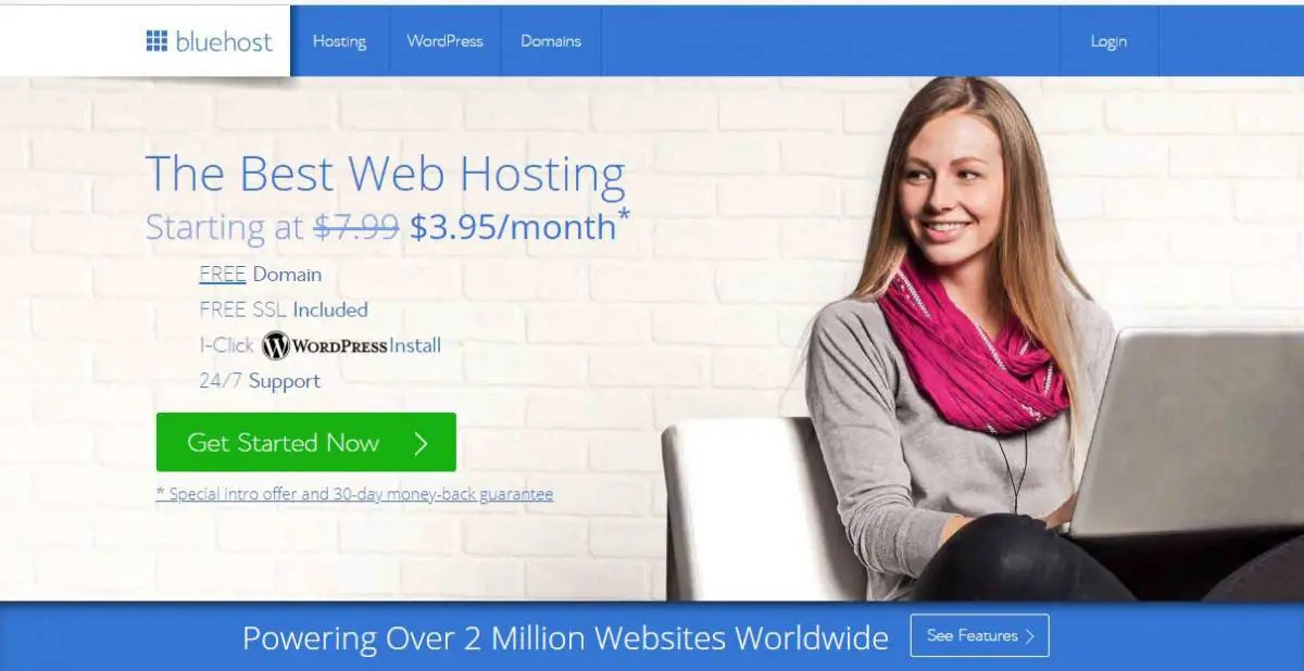 Bluehost is a web hosting company which has several features.